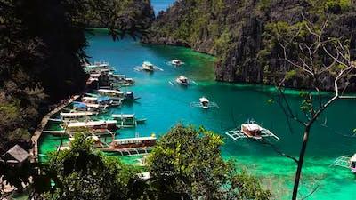Kayangan Lake Viewpoint in Phillipines Palawan