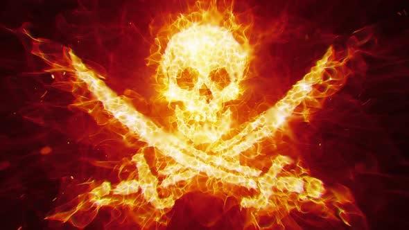 Thumbnail for Burning Pirate Skull