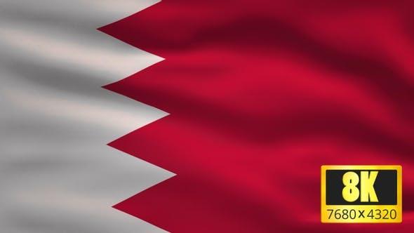8K Bahrain Windy Flag Background