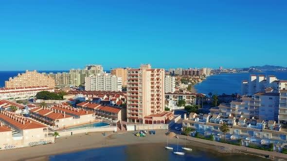 Thumbnail for Aerial View. Panoramic View of Streets, Roads and Buildings Foreland La Manga Del Mar Menor