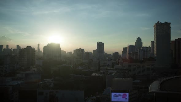 Thumbnail for Timelapse of Evening Changing Day in Bangkok, Thailand