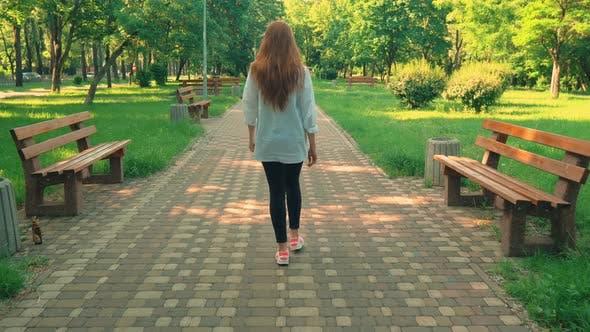 Thumbnail for Girl Walks on the Street