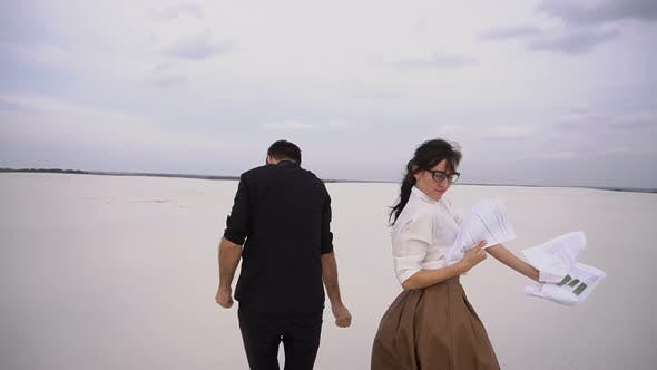 Thumbnail for Law Students Man and Woman Rejoice at Passing Exams Dancing at Seaside