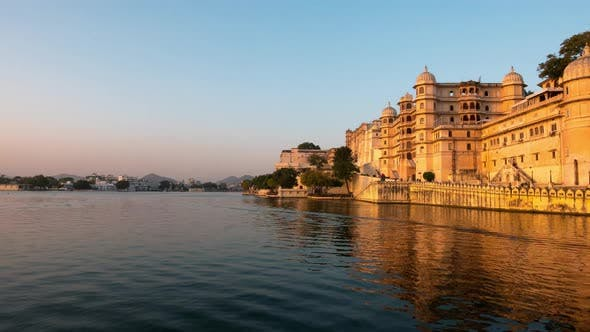 Thumbnail for Udaipur Rajasthan India. Time lapse at sunset. Travel destination and tourism landmarks.