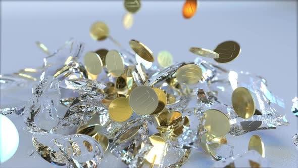 Thumbnail for Breaking Glass Piggy Bank Full of Coins
