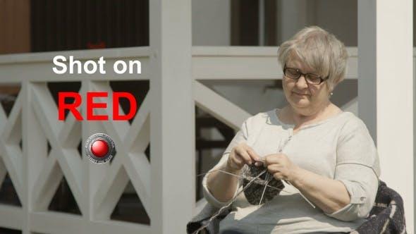 Thumbnail for Senior Woman Knitting