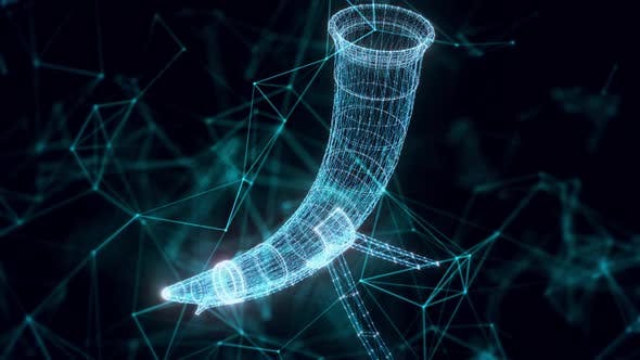 Drinking Horn Hologram Close Up Hd
