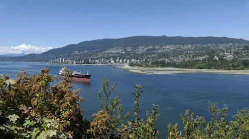 West Vancouver - Ocean Shore - Buildings, Beaches, Parks, Mountains, Ship