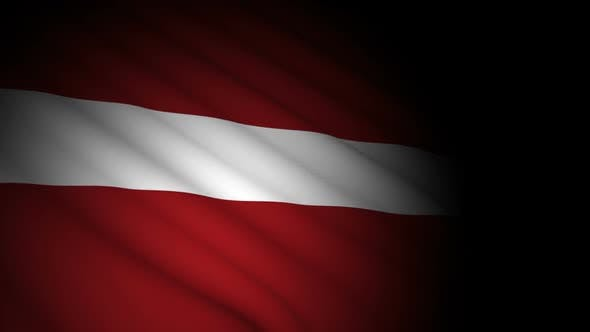 Thumbnail for Latvia Flag Blowing in Wind