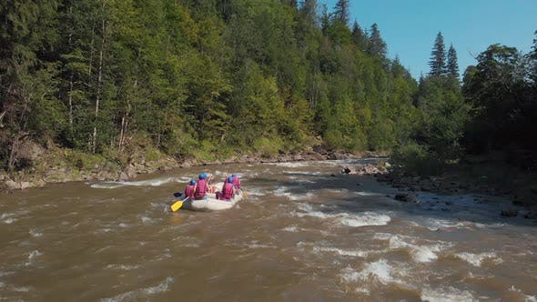Rafting in the Carpathians Ukraine