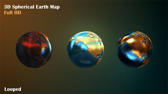 Thumbnail for 3D Spherical Earth Map
