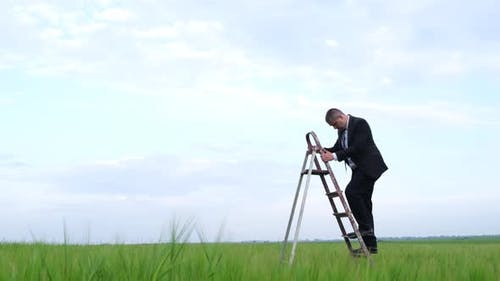 Businessman in the Field of Promotion