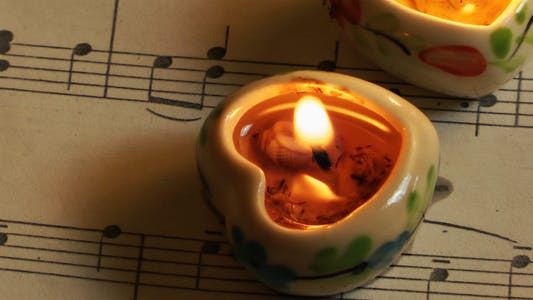 Thumbnail for Heart Shaped Candles on Music Sheet 1