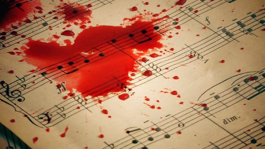 Thumbnail for Blood Drops on Music Sheets