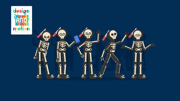 D&M Character Kit: Skeleton Costume