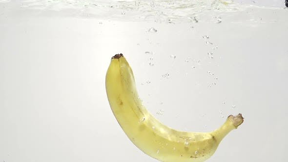 Yellow Banana. Slow Motion