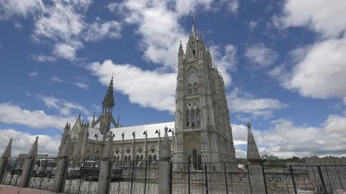 The Basilica of the National Vow in Quito, Ecuador