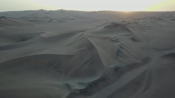 Aerial view of desert in Peru.
