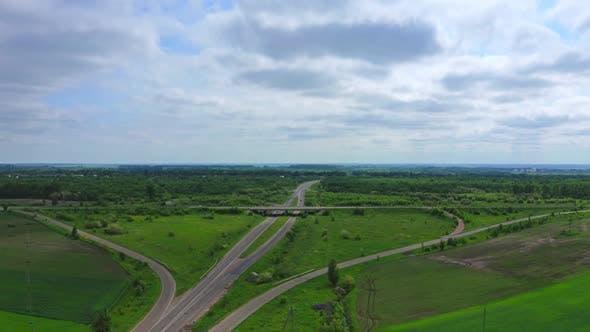 Thumbnail for Aerial View Of Highway Interchange Ukraine