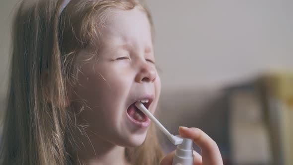 Mommy Sprays Throat of Little Girl To Cure Disease in Room