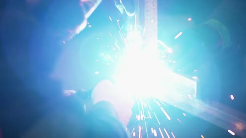 Industry - Welder Welding Steel Construction