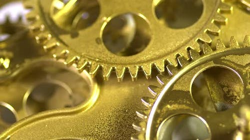 Working Golden Gears With Cogs In Action 3