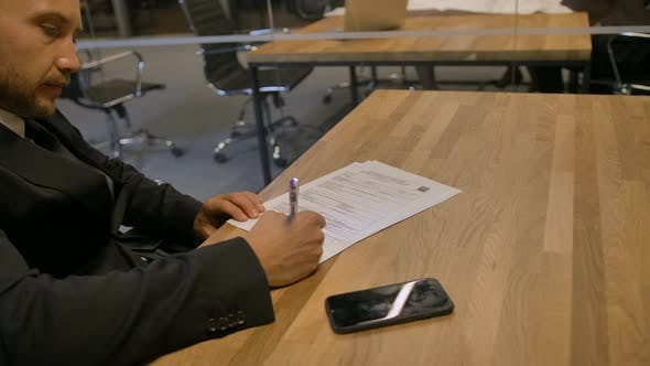 Thumbnail for Customer Signing Employment Contract in Office During the Meeting