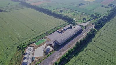 Agricultural Cultivated Fields with Farm