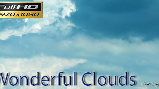 Thumbnail for Wonderful Clouds-Time Lapse