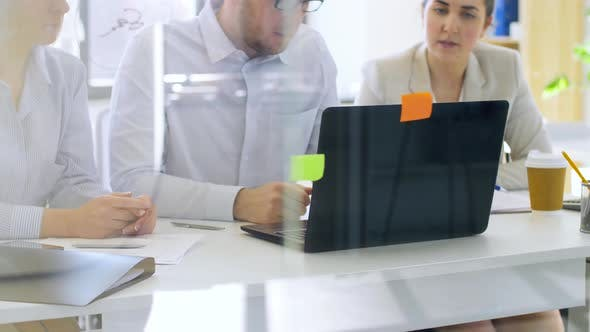 Thumbnail for Business Team with Laptop Working at Office