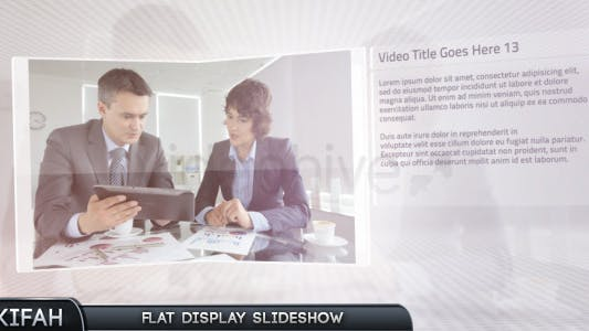 Thumbnail for Flat Display Slideshow