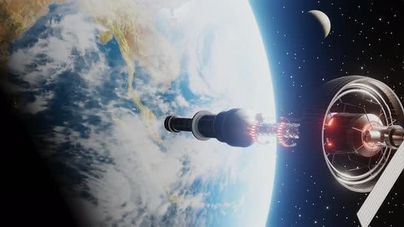 Thumbnail for Raumstation Umlaufplaneten Erde