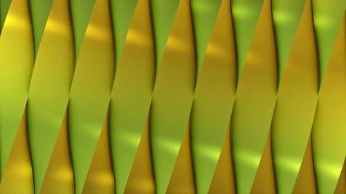 Green random reflective block shapes toned in a subtle gray hue