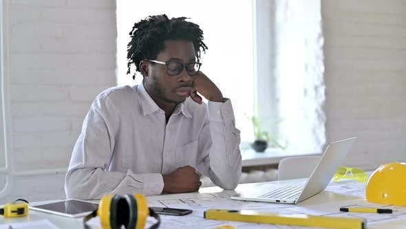 Thumbnail for African Engineer Sleeping in Office