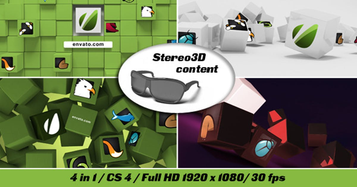 Download Cubes Stereo 3D by Masteroff