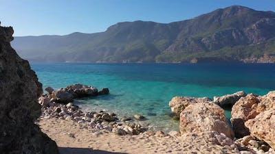 Rocky Shore of Tropical Island