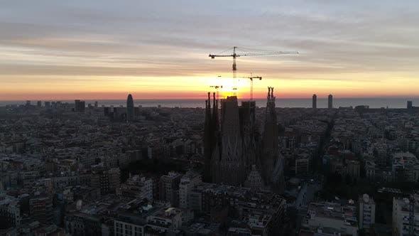 La Sagrada Familia on Sunrise