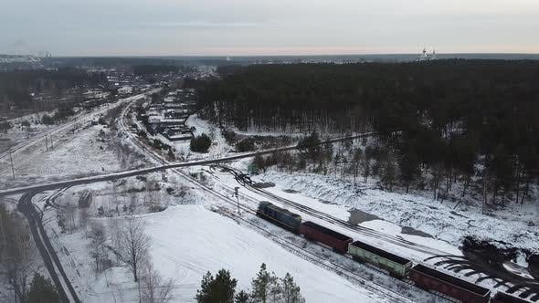 Thumbnail for Train Tracks Winter Time Aero