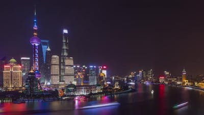 Time Lapse Of The Shanghai China Skyline