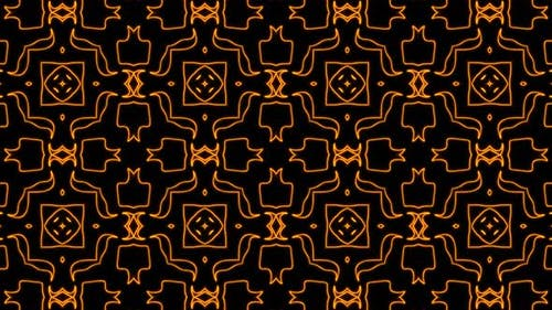 Abstract orange geometric