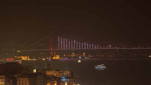 Bosphorus Bridge Pan Timelapse