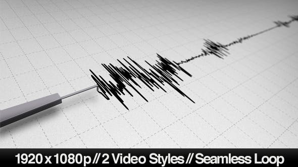 Earthquake Seismograph Line Looping - 2 Styles
