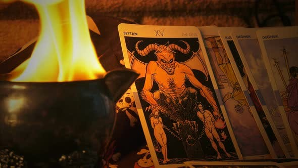 Thumbnail for Magical Witchcraft Fortune Teller Mystical Tarot Cards 32