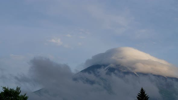 Thumbnail for Clouds Covered On Mountain Fuji Peak