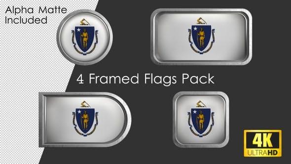 Thumbnail for Massachusetts State Flag Framed