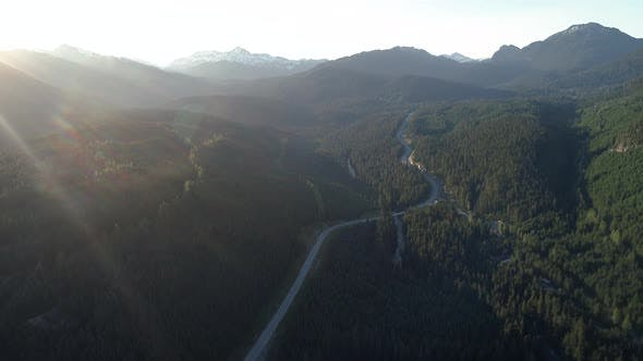 Thumbnail for Callaghan Road Whistler Canada Summer Sun Flare Aerial