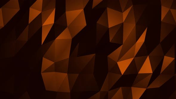 Thumbnail for Orange Abstract Low Poly Triangle Background Loop 4K