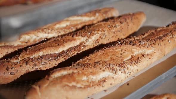 Thumbnail for Baguette In Der Bäckerei