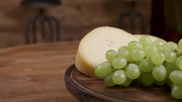 Cheese and Grapes Minimalist Concept