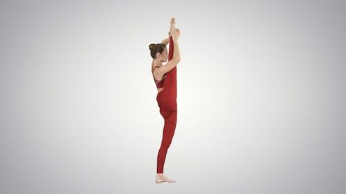 Young Yogi Woman Practicing Yoga Concept Variation